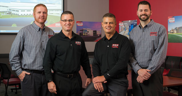 (L-R) MKS leadership team - Zach Kessie, Doug Kinder, Bill Kinder and David Michael
