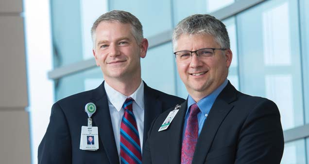 Joshua Kline, MD, CMO, and Jerry Grannan, COO