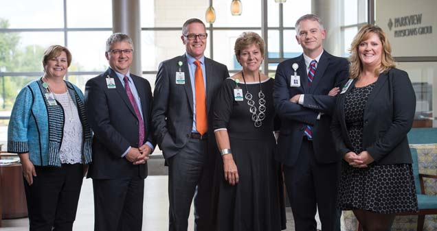 Sheryl McKinnon, RN, Director, PPG Practices; Jerry Grannan, COO, PPG; Paul Smith, VP, PPG, Primary Care; Julia Wiard, PPG Care Model Analyst; Joshua Kline, MD, CMO, PPG; Elizabeth Cutler, CMA, PPG Clinical Specialist