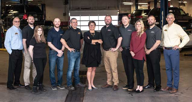 McMahon's management team: Randy Geyer, Travis Strock, Kerstin Beswick, Bryan Fadus,  Clayton Millay, Kim McMahon, Jason Byerly, Keith Gleason, Nikki Phillips, Mike Adams and Bubba McMahon
