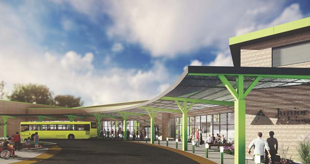 Proposed front entrance