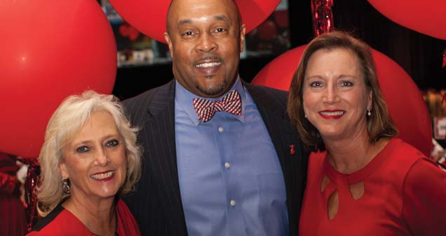 Belinda Clancy with TLC, Roscoe Spencer with American Heart Association, and Stacie Little with TLC