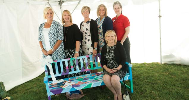 Jennifer Hartman, Lindsey Lortie, Jenny Sayder, Cassie Lepper, Rose Fritzinger and Connie Brown (seated)