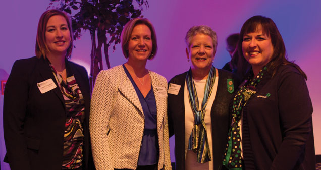 Heather Teegarden, IPFW Alumni Association, Kelley Hartley-Hutton, Indiana University-Purdue University Fort Wayne and Margaret Sturm & Ruth Strawser, Girl Scouts of Northern Indiana-Michiana