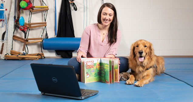 Zoe Martin, Occupational Therapist & Milo, therapy dog