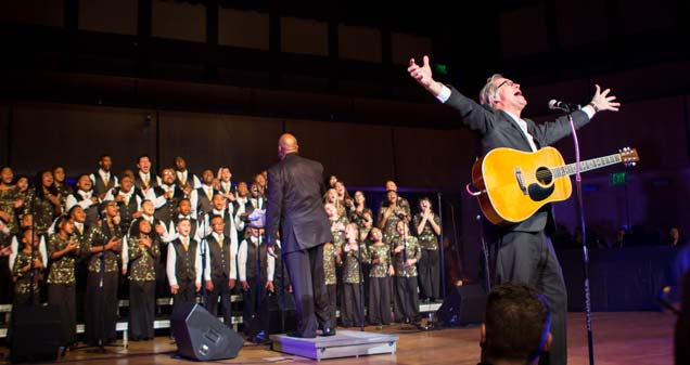 The Voices of Unity Youth Choir, directed by Marshall White, with guest soloist, Dave Pelz, of Fort Wayne, Indiana
