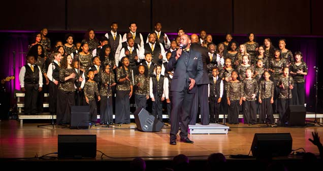 "Guest soloist, Brian Kelly of Indianapolis, Indiana, performs ""More and More"" and ""Another Breakthrough"" during the Voices of Unity Youth Choirs Praise Celebration 2017: Another Breakthrough."